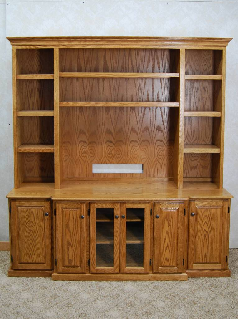 2 Piece Oak Entertainment Center on oak buffet server furniture