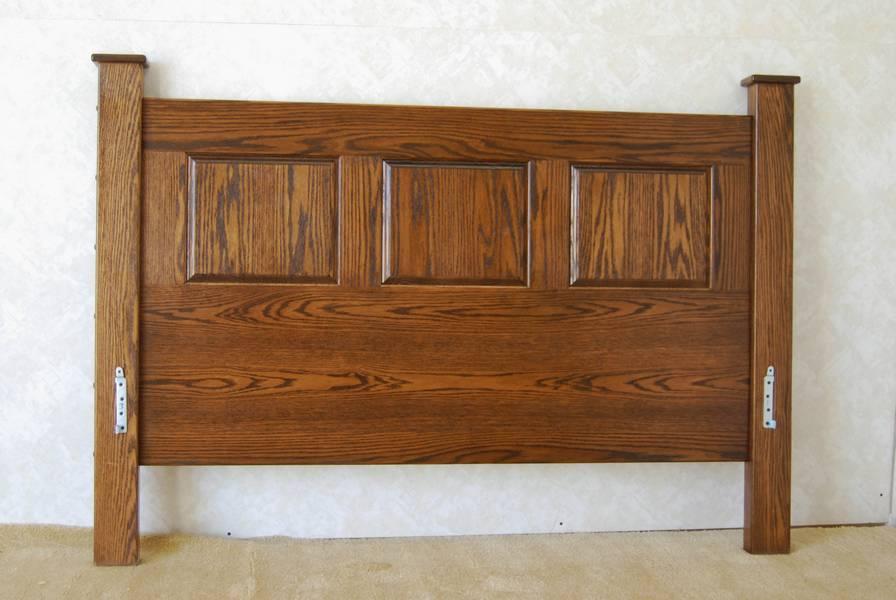 mission style oak headboard  de vries woodcrafters, Headboard designs