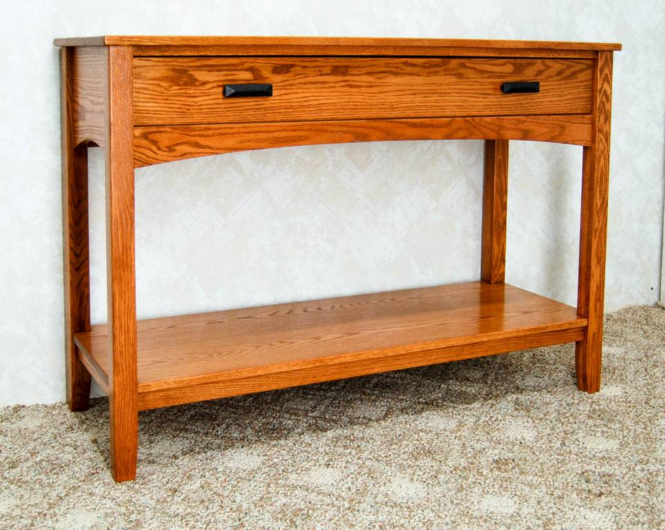 Mission Style Sofa Table - De Vries Woodcrafters