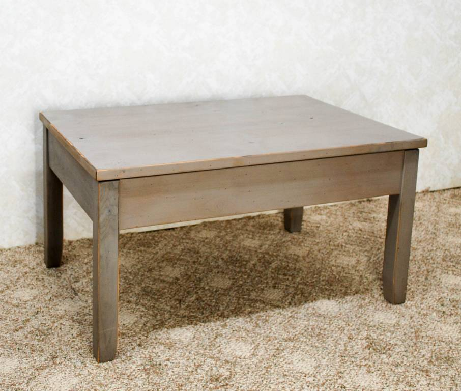 Low coffee table rising coffee table 100 antique pine for Low coffee table wood