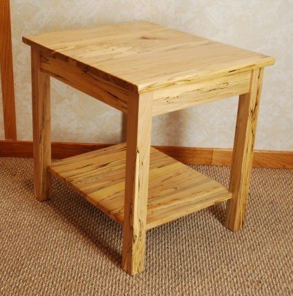 Superieur Spalted Maple End Table