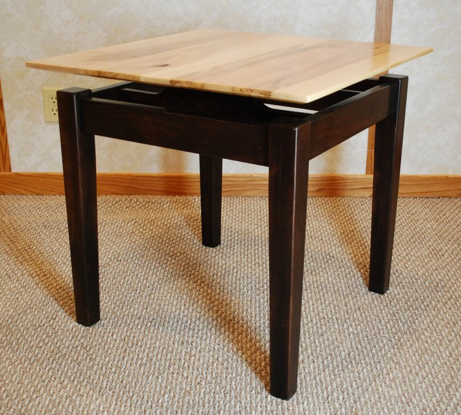 Brown Maple Floating Top End Table De Vries Woodcrafters Rh  Devrieswoodcrafters Com Floating End Table Ikea Floating End Tables Bedroom