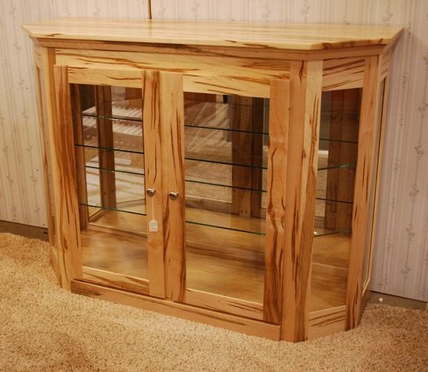 Angled Corner Curio Cabinet
